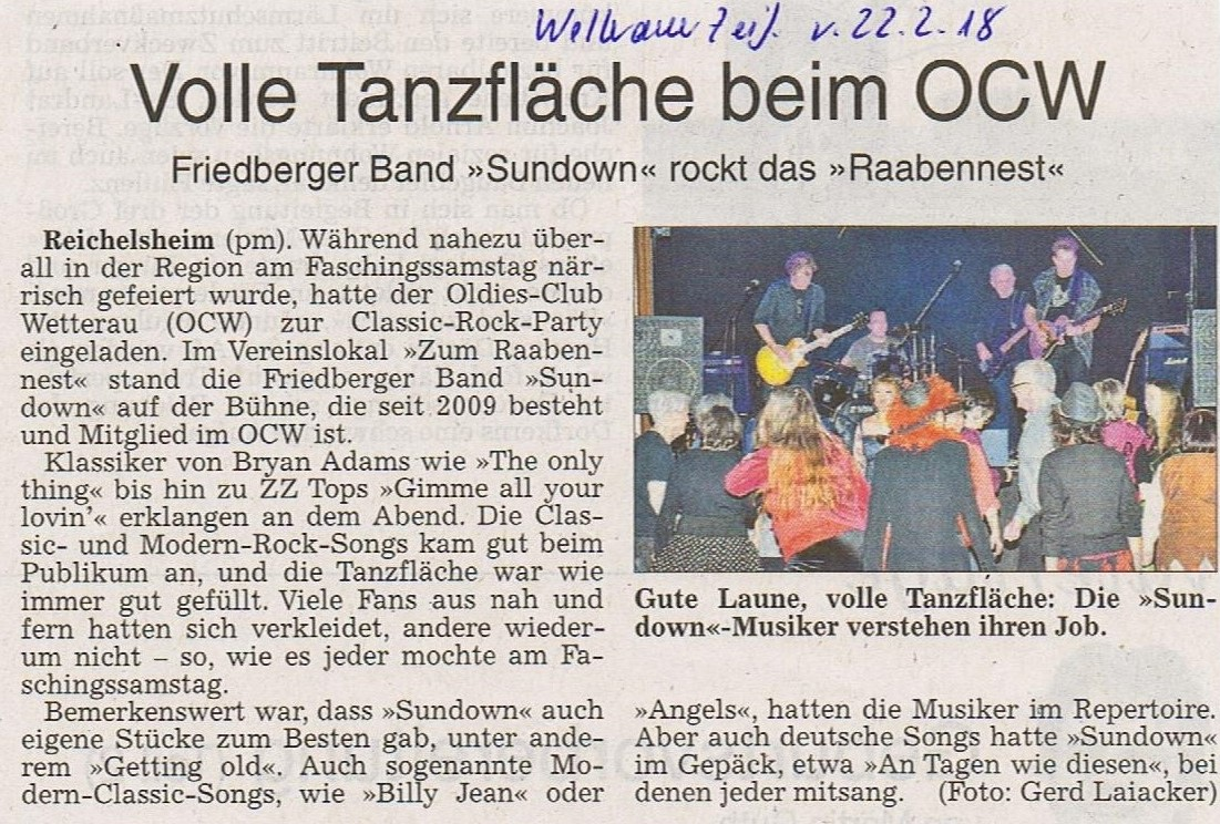 20180222 Rock Party mit Sundown